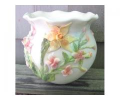 MADE TO ORDER Daffodil and Cherry Blossom Pot