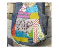 The Elephant Quilted Patchwork 241 Tote Bag