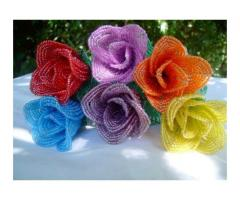 Rose bud - french beaded flower