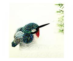 Hummingbird Miniature Figurine Beaded Animal Totem Stocking Stuffer